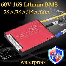 BMS pour batterie au Lithium 16s, 25a, 35a, 45a, 60a, décharge, Protection pour Scooter, outils électriques, 1 pièce