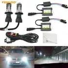 FEELDO 1 satz 35 watt AC Auto Scheinwerfer H4 HID Xenon Birne Hallo/Lo Strahl Bi Xenon Birne licht Digital Dünne Drossel HID Kit # AM4482