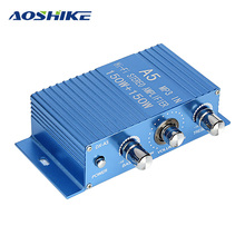 AOSHIKE HIFI 12V MINI Car Amplifier 150W*2 Car Stereo Amplifier DVD MP3 Auto Audio