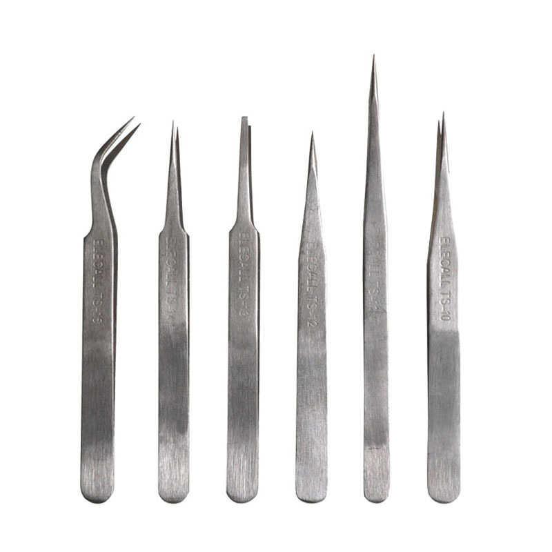 نوعية جيدة TS-12 الفولاذ المقاوم للصدأ مستقيم كاذبة أداة نتف الرمش الإضافي ماكياج أداة بالجملة