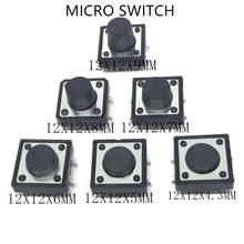 10 PCS PCB SMD 4pin Tátil Tact Mini Botão Interruptor Micro interruptor 12*12*4.3/5 /6/7/8/9 MM 12x12*4.3 MM/5 MM/6 MM/7 MM/8 MM/9 MM