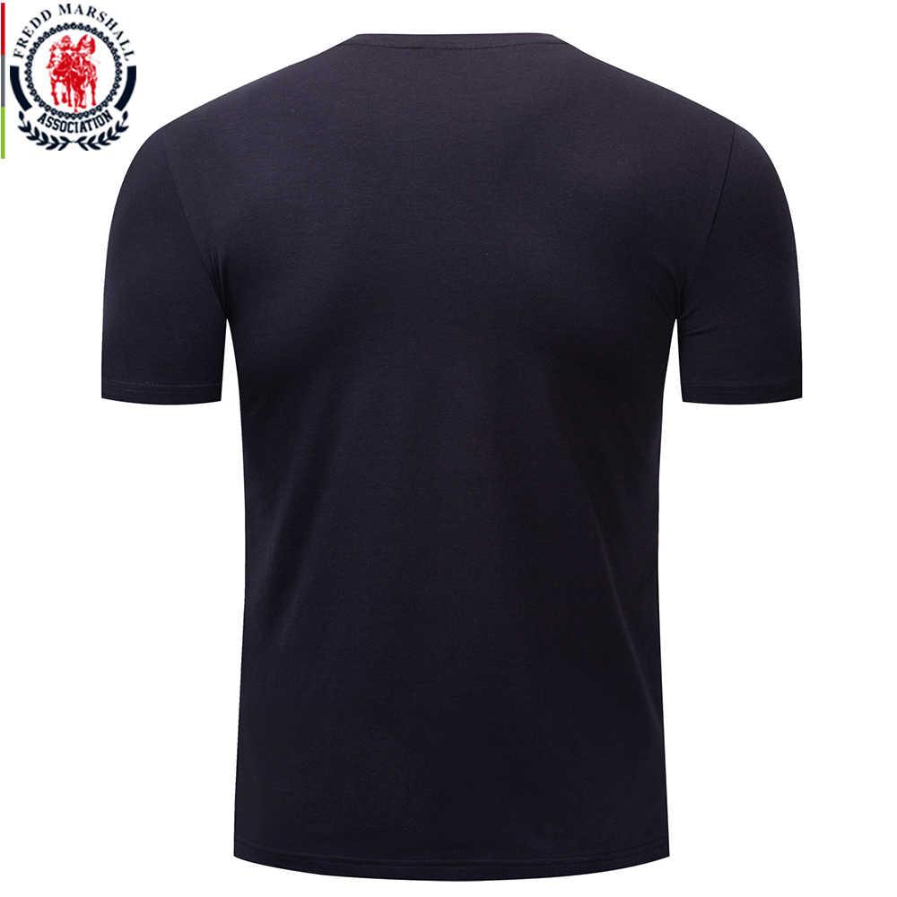 Fredd Marshall New Mens T Shirt All Cotton Short Sleeve 2019 Summer Anchor Print Tshirt O-neck Casual Letter Tee Shirt Homme 323