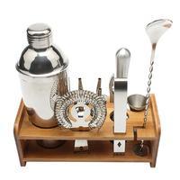 13pcs/set Stainless Steel Wine Mixer Liquor Red Wine Cocktail Shaker Clip Barware Tools Kit