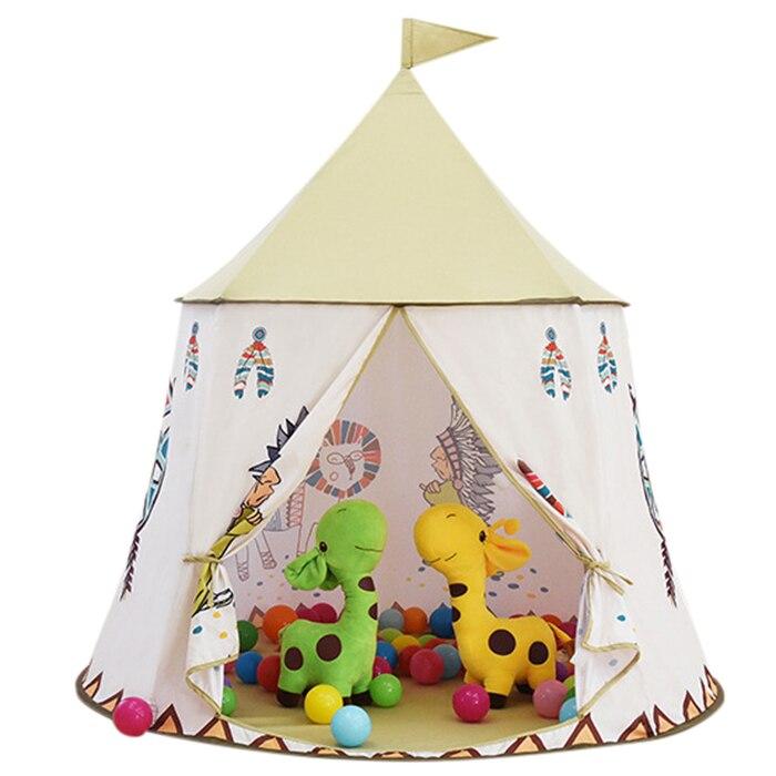Enfants jouent tente petit Lion indien tente intérieure extérieure bébé jouet enfant Playhouse Portable pliable jouer tentes 116x116x123 cm