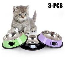 Новый продукт для домашних животных миска для собак и кошек из нержавеющей стали Противоскользящий корм для собак и кошек миска для воды миска для питомца инструмент товары для кормления домашних животных