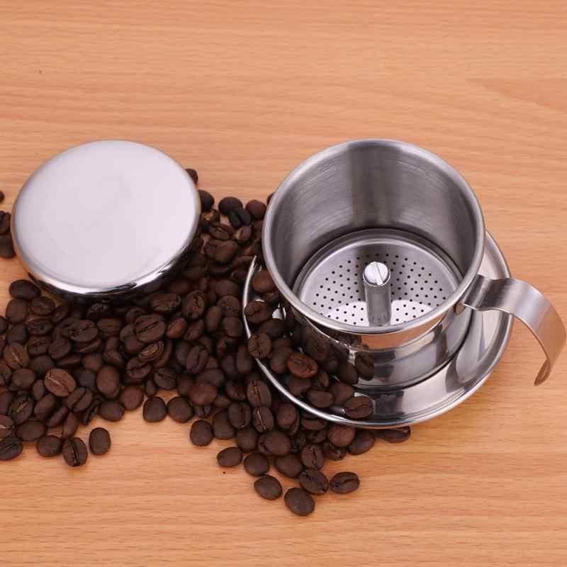 Вьетнамский капельный фильтр для кофе с чашей из нержавеющей стали, высококачественный капельный фильтр для кофе, инструменты для фильтров