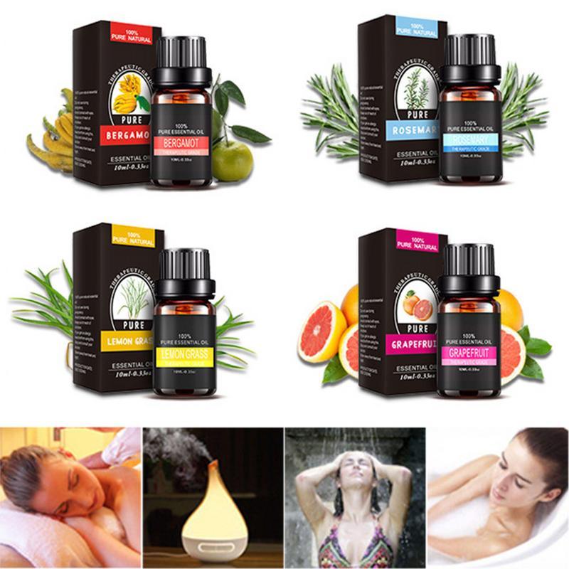 10ml aromathérapie diffuseurs huiles essentielles naturel hydratant corps Massage Relax plante parfum Pure huile essentielle soins de la peau