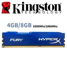 משמש קינגסטון HyperX זעם מחשב זיכרון RAM Memoria מודול מחשב שולחני 4GB 4G 8GB 8G DDR3 PC3 1600Mhz 1600 1866MHZ 1866 RAM