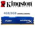 Память ОЗУ для ПК Kingston HyperX FURY, б/у модуль памяти оперативной для настольного компьютера 4 ГБ 4 Г 8 ГБ 8 Г DDR3 PC3 1600 МГц 1600 1866 МГц 1866 ОЗУ