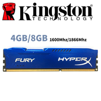 used Kingston HyperX FURY PC Memory RAM Memoria Module Computer Desktop 4GB 4G 8GB 8G DDR3 PC3 1600Mhz 1600 1866MHZ 1866 RAM