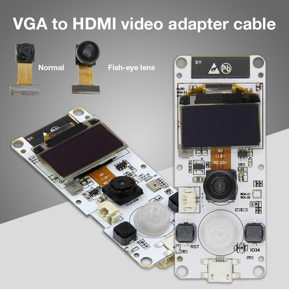 Camera Module For T-Camera ESP32 WROVER PSRAM ESP32-WROVER-B OV2640 0.96 Inches OLED PIR Grove Port Mini Camera Boards With Mic