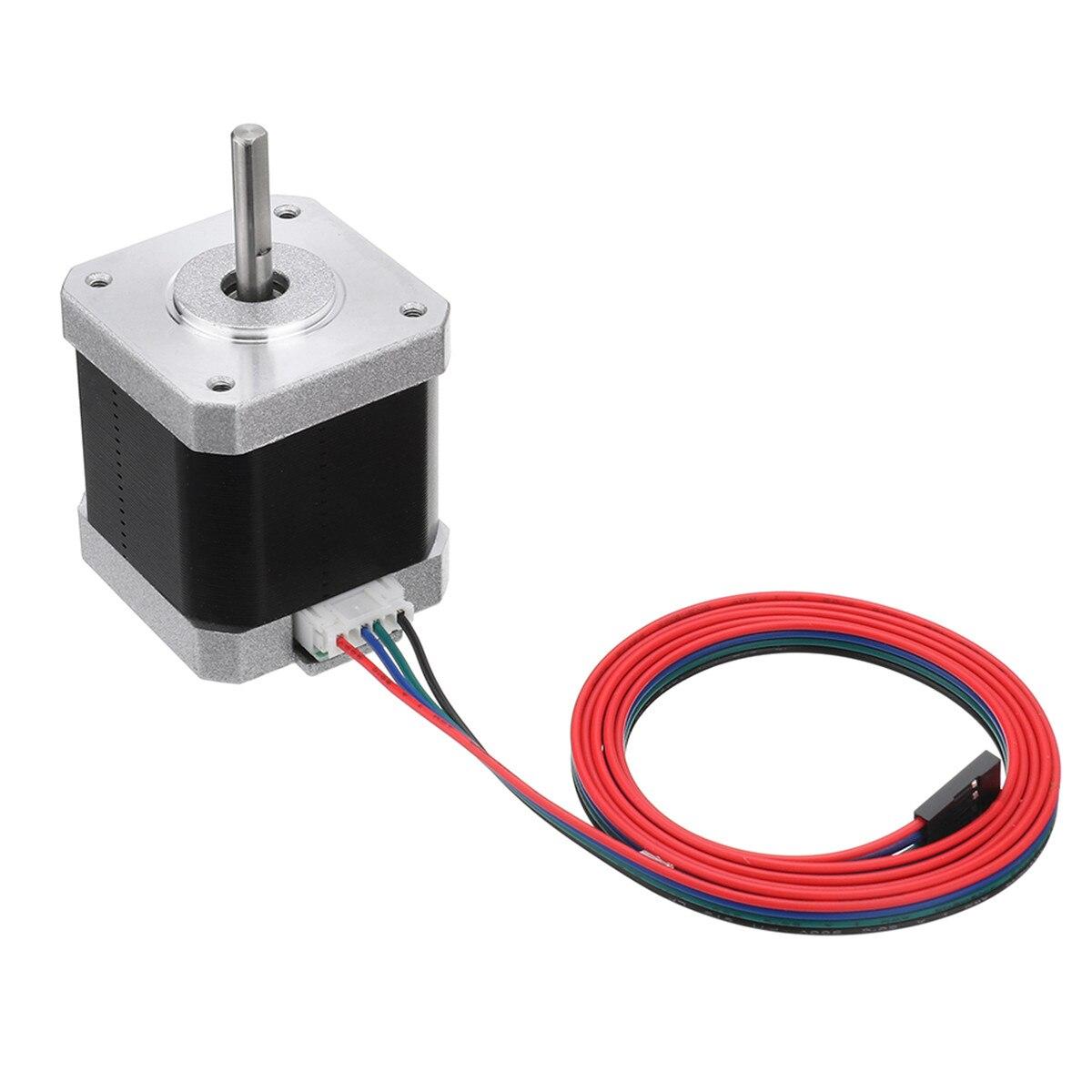 Pcs Preto 17HS8401 1 48mm 42 17 Nema Do Motor de Passo Do Motor 1.8A 52N. cm 4-chumbo para CNC 3D Impressora