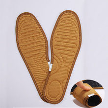 2018 Hot Sale Original Thick Thermal Winter Warm Insoles Heated For Man Woman Shoes Soles Insert(China)