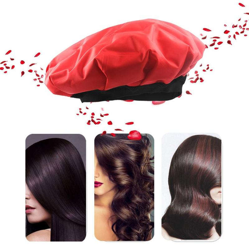 Cordless Baking Oil Cold Heat Cap Hair Dryers Wrap Hair Beauty Styling Care Treatment Steamer Thermal Wrap Spa Heated Gel Cap