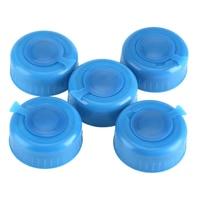 5 pcs azul galão garrafa de água potável balde parafuso na substituição do tampão anti respingo tampas reutilizáveis encabeça a linha|Acessórios de caneca e garrafa de água|Casa e Jardim -