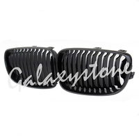 Pair 2X Fits For BMW E81 E87 E82 E88 118i 128i Gloss Black Front Kidney Grill Grilles