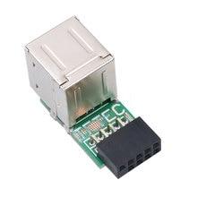 Dropship חם 1 יח\חבילה USB 2.0 מתאם 9Pin נשי 2 יציאת נקבה ממיר האם PCB לוח כרטיס Extender פנימי מחשב
