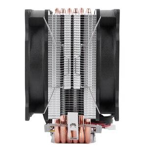 Image 4 - Bonhomme de neige 4PIN refroidisseur de processeur 6 caloduc Double ventilateurs refroidissement 12cm ventilateur LGA775 1151 115x1366 prise en charge Intel AMD