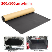 200x100cm 6mm   Auto   Car Sound Deadening Cotton Mat Automobiles Heat Insulation Sound-proof Pad Foam Interior Accessories
