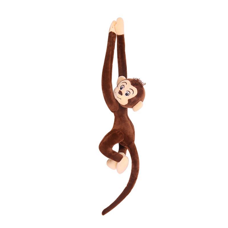 65CM Cute 4 colores Kawaii Long Arm Tail Monkey Peluches Juguetes de peluche cortinas Baby Sleeping Pease Animal muñeca de regalo de cumpleaños Juguete de alta calidad dibujo de osito de felpa juguetes de peluche 25cm animales de peluche oso muñeca regalo de cumpleaños para niños