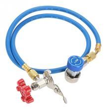 1 шт R134a заправка хладагента газовый шланг может шланг с фитингом может коснитесь для R502 R-12 R-22 хладагента Новая
