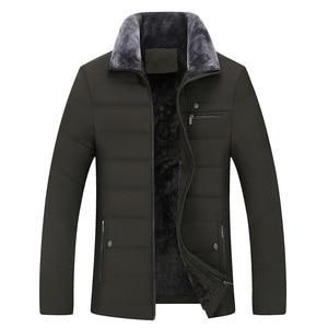 Image 3 - Parka épaisse matelassée en coton pour hommes, veste dhiver classique pour hommes, veste longue matelassée en polaire, vêtements décontracté