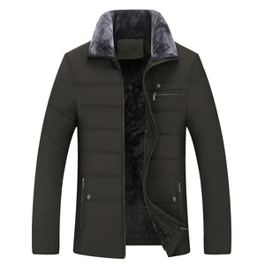 Image 3 - Thick Jacket Quilted Business Cotton Warm Parka Winter Men Casual Male Classic Windbreaker Long Fleece Lined Padded Coat Clothes