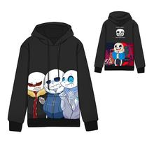Hot Anime undertale Cotton Cosplay Hoodies Standard Hooded  Winter Tops Unisex Undertale sans and papyrus Sweatshirts
