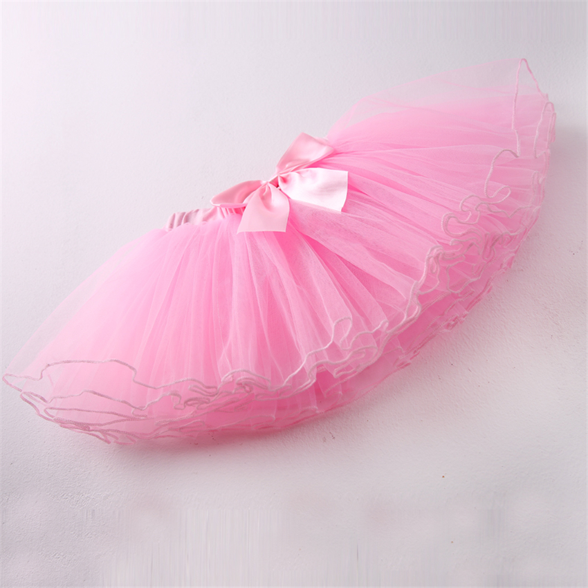 Girls Ballet Dance Tutu Skirt Children Princess Performance 4 Layers Pettiskirt Baby Girl Danceing Party Fluffy 8 StylesTulle