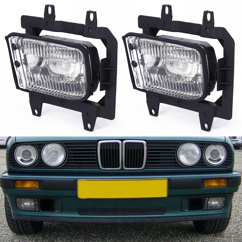 2pcs Set Pair Auto Left + Right Front Bumper Clear Fog Lights For BMW E30 318i 320 325i 1982to1994 Car Accessories-in Shell from Automobiles & Motorcycles    1