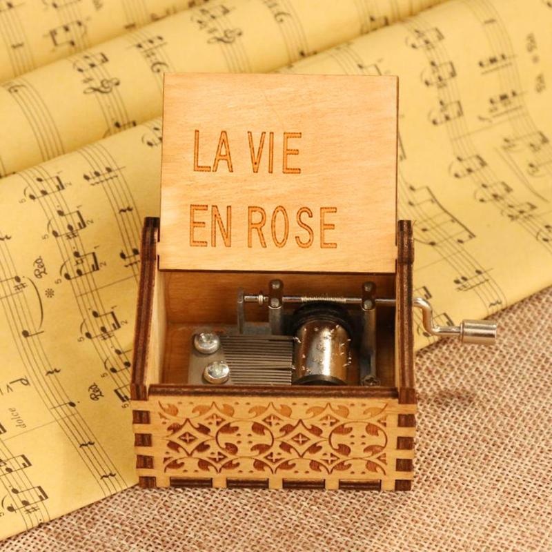 Mini manivela de mano de madera antigua caja de música de madera Vintage caja de música de mano de manivela caja de música de juguete para niños Lámpara de pared de cabecera antigua de estilo americano luces de sala de estar de una sola cabeza lámparas de bar de moda vintage
