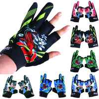 1 Pair Outdoor Sports Waterproof 3 Cut Finger Anti-slip Non-Slip Fishing Gloves (6 Colors Optional)