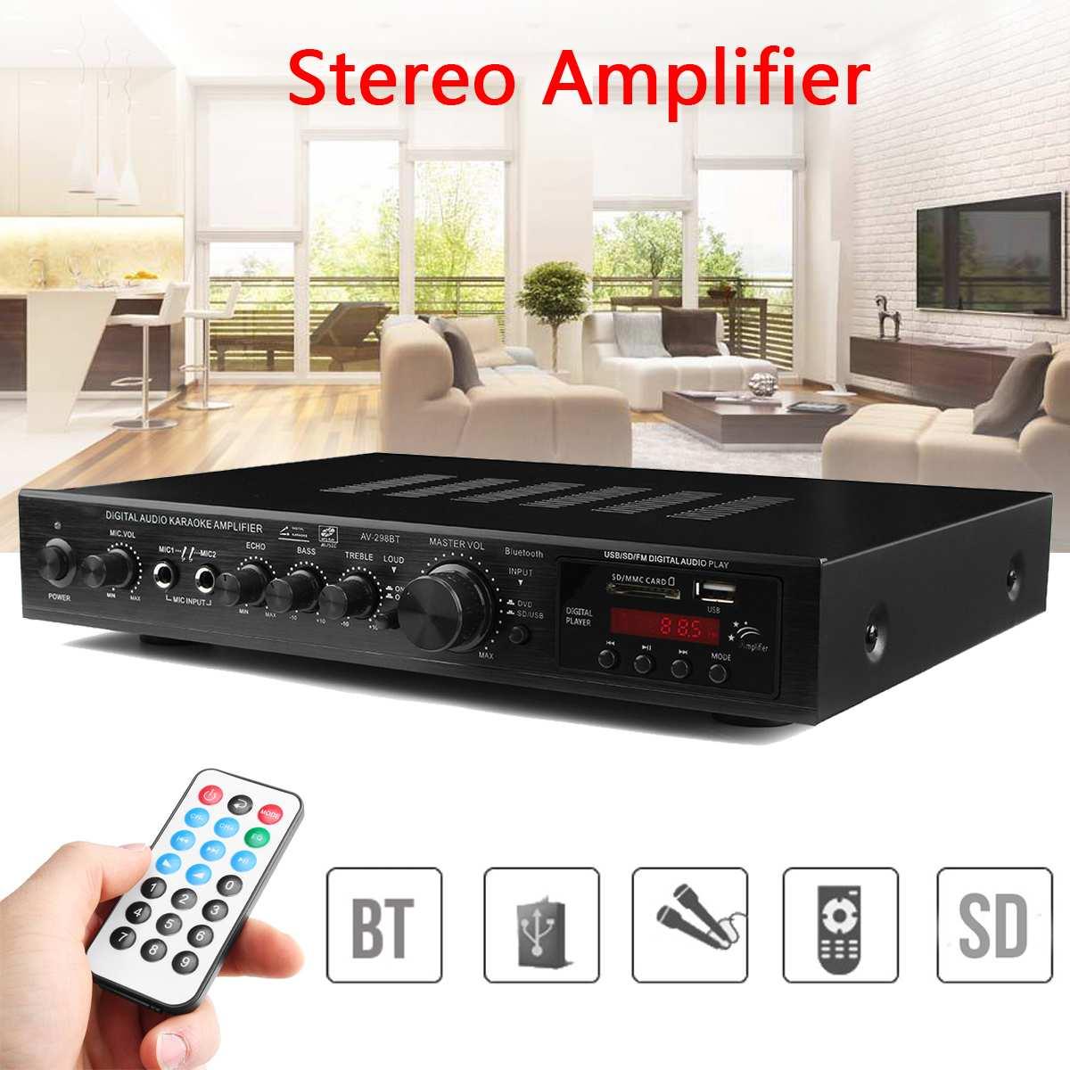 720W 5 Channel Bluetooth HiFi Stereo Amplifier LED Digital Karaoke Home Cinema Home Theater Amplifiers Home Amplifiers
