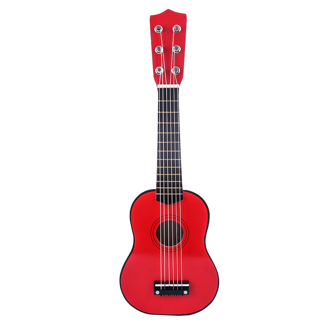 wooden guitar musical instruments with six real strings for beginner red in guitar from sports. Black Bedroom Furniture Sets. Home Design Ideas