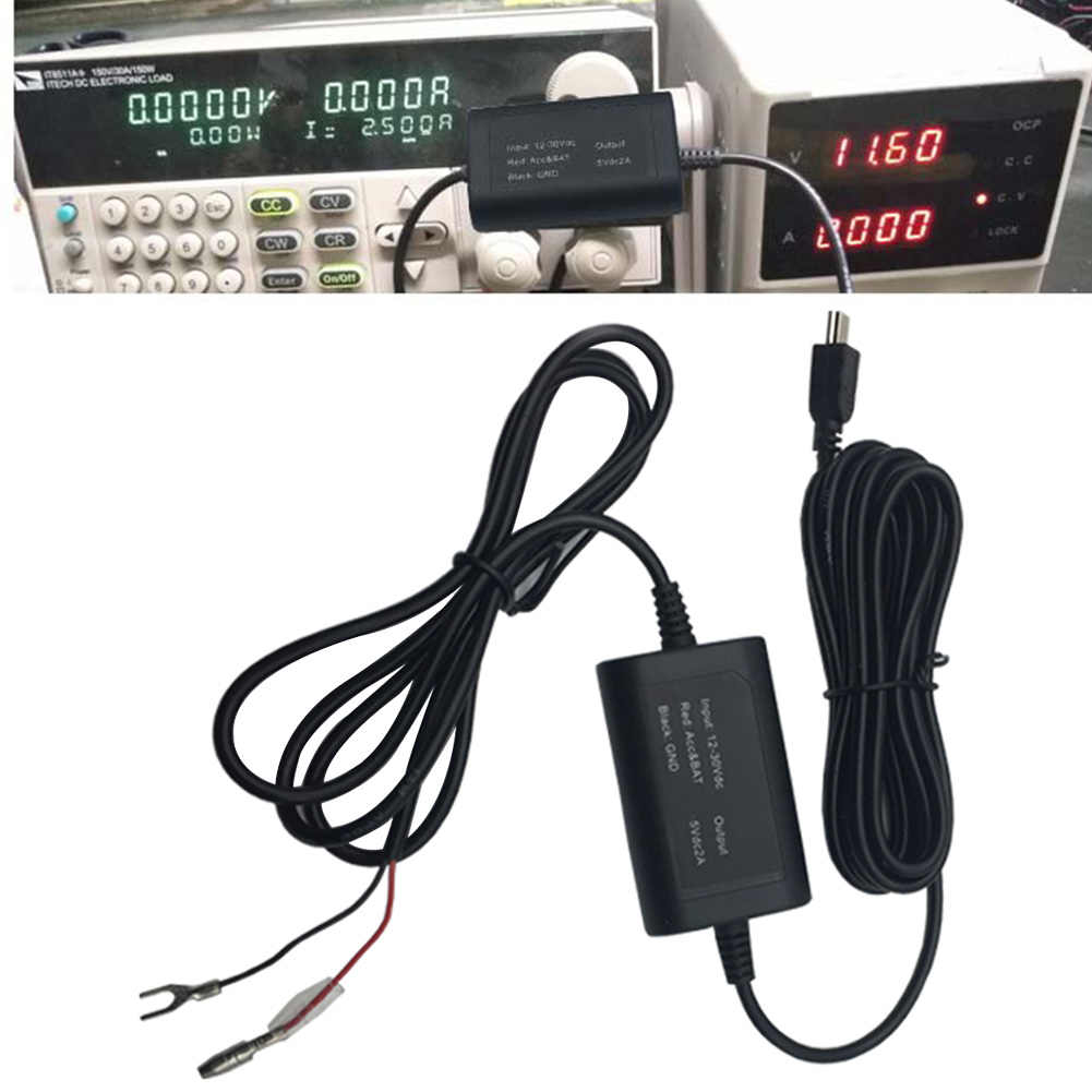 Recorder Fuse Box Charger Buck mini USB Modified Line Adapter Vehicle on