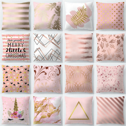 Polyester Pillow Case Cover Rose Gold Throw Sofa Car Cushion Cover Home Decor Au Pillow Case Aliexpress