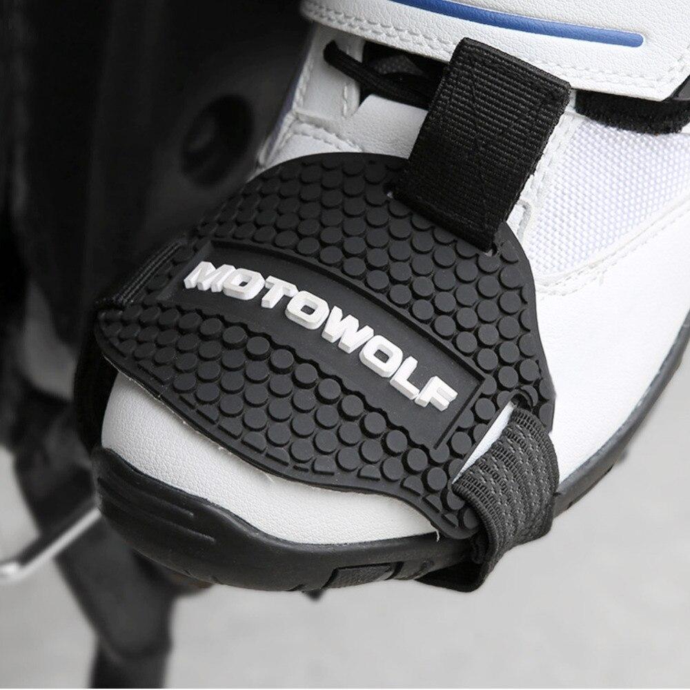 Tragen-wider Gummi Motorrad Getriebe Shift Pad Reiten Schuhe Scuff Mark Protector Motorrad Stiefel Abdeckung Shifter Wachen