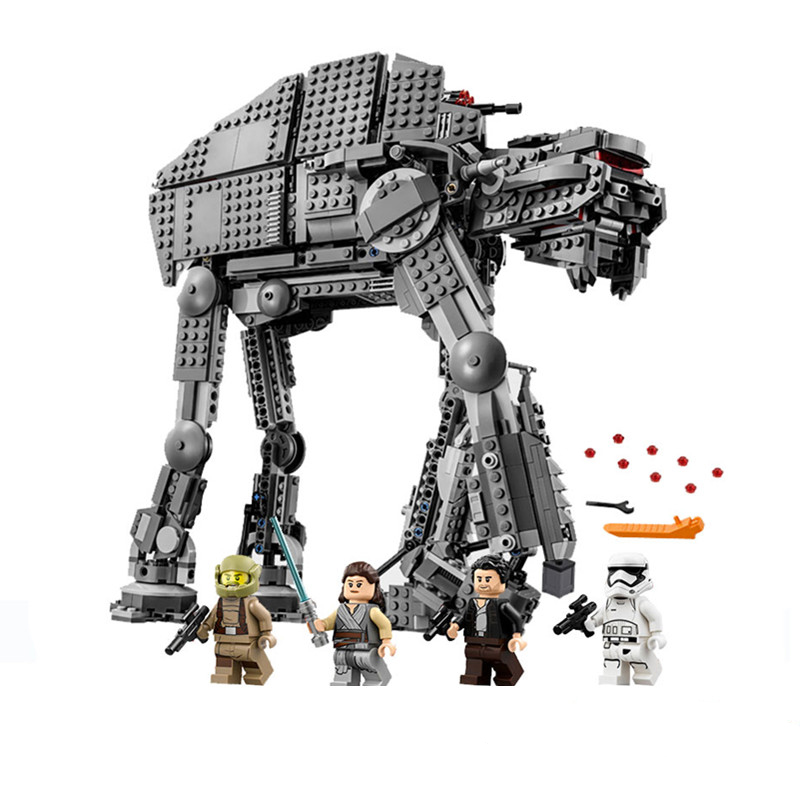 1206pcs Diy Star Series Wars Force Awaken AT Transpotation Armored Robot Compatible With Legoingly 75054 Blocks Bricks Toys1206pcs Diy Star Series Wars Force Awaken AT Transpotation Armored Robot Compatible With Legoingly 75054 Blocks Bricks Toys