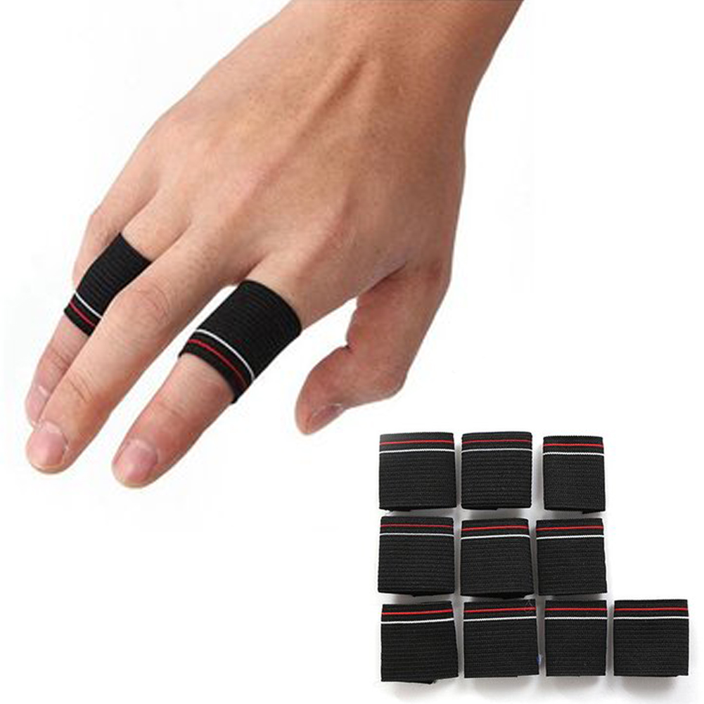 Essential Basketball Fans Flexible Finger Protector Guard Support Stretchy Sports Aid Band Basketball Accessories 10Pcs/set