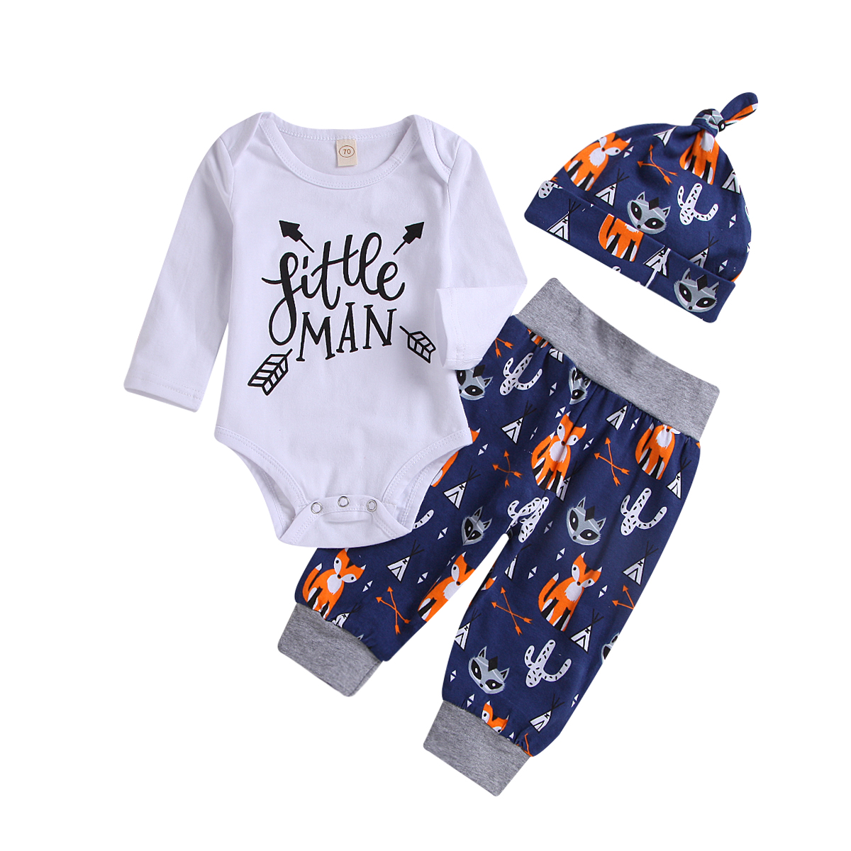 Infant Toddler Baby Girls Long Sleeve Trousers Romper Jumpsuit Outfits Bodysuit