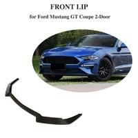 Front Bumper Spoiler for Ford Mustange 2 Door 2018 2019 Carbon Fiber Bumper Apron