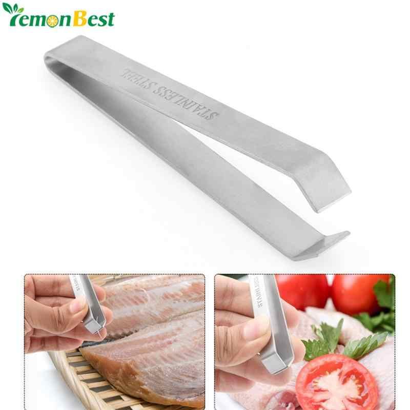 Lemonbest ステンレス鋼魚骨除去プライヤーつまみプラーピンセットトングピックアップ道具キッチンシーフードツール