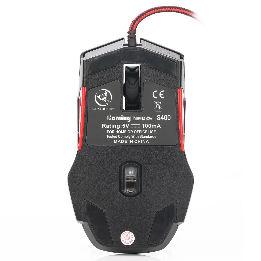 Gaming Mouse Wired Macro Definition Left And Right Hand Game 3200dpi 5  Archives Adjustable 9 Button USB Computer Mice For Pc
