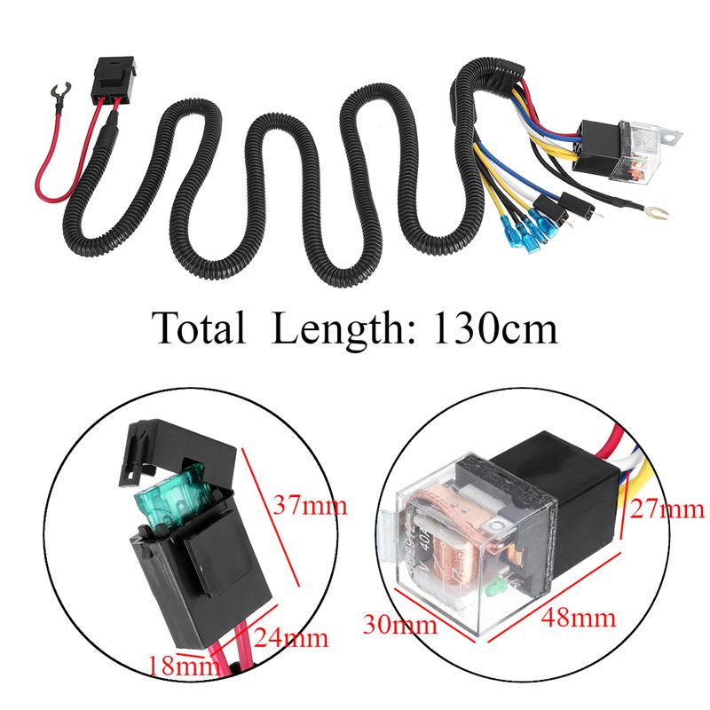 US $5.16 38% OFF|Best Price 12/24V 40A Electric Horn Relay Wiring Harness on