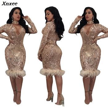 Xnxee 2020 Vestidos New Sexy Sheath Solid Full Lace Dress Winter Women Dresses Fashion Slim Party S-XL