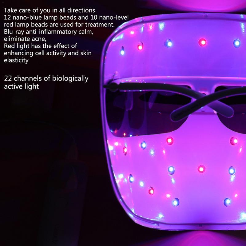Masque LED masque léger Instrument beauté peau acné photothérapie Photon blanchiment rajeunissement dispositif Anti acné soins du visage pour les femmes