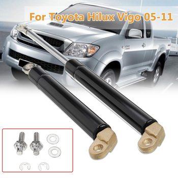 Aluminiowe siłowniki pneumatyczne tylnej klapy tylnej klapy bagażnika dla Toyota Hilux Vigo 2005-2011 nowa klapa tylna bagażnika tanie i dobre opinie Autoleader Rear Aluminium Fit For Toyota Hilux Vigo 2005 -2011 Black