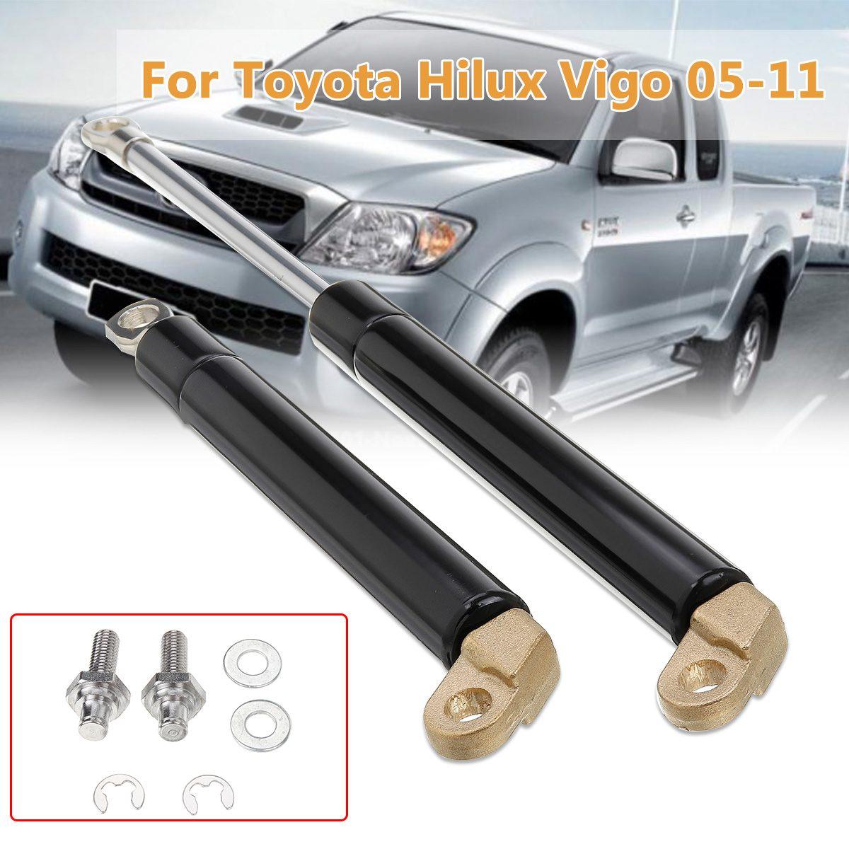 Puntales de Gas de la puerta trasera de aluminio Kit de amortiguador del maletero trasero para Toyota Hilux Vigo 2005-2011 nueva puerta trasera del maletero
