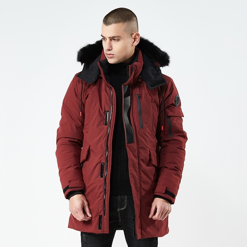 Zollrfea Casual Cotton Thickening Hooded Fashion Windproof Jacket Winter Down Men Coat   Parka   Jacket Overcoat Plus Size CA0369