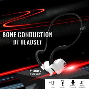 Image 5 - Bluetooth Wireless Kopfhörer Knochen Leitung Headset Mit Micphone Schweiß beweis Für Lauf Radfahren Fitness Schwarz Für S. tragen R9